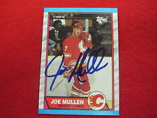 1989 Topps Joey Mullen  authentic autograph hockey card  signature  Penguins