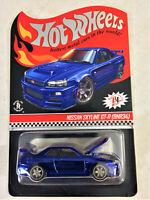 Hot Wheels RLC 2018 Nissan Skyline GT-R (BNR34) Blue HTF Read