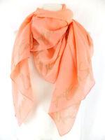 ESCADA SPORT Tuch Schal  apricot beige 130 x 130 cm  mit Seide  neu m. Etikett