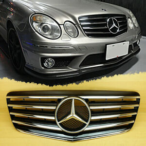 Mercedes E w211,2007-09 Grille Gloss Black Large Star AMG look E55 E63 E280 E320