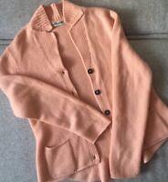 Iris Von Arnim 100% cashmere vintage cardigan peach color button-up