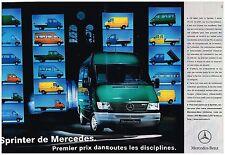 Publicité Advertising 1998 (2 pages) Camion Utilitaire Sprinter de Mercedes