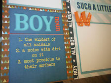 BOY Friends Two 12x12 Premade Scrapbook Pages 4 Family Son