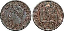 UN CENTIME 1855 W LILLE CHIEN F.102 NAPOLEON III SUP!!