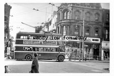 pt9756 - Doncaster Trolleybus 387 entering Baxter Gate in 1955 - photograph
