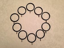 10 x Large Black Metal Double Curtain Rings  55mm Overall Size