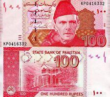 PAKISTAN 100 Rupees Banknote World Paper Money UNC Currency Pick p48j Ali Jinnah