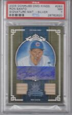2005 Donruss Diamond Kings Ron Santo Signature Silver Bat /50 Chicago Cubs PSA