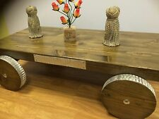 Hand Made Trailer , coffee table Rustic ,Vintage Retro , Reclaimed wood Heavy