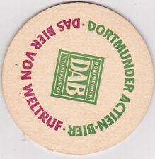 alter Bierdeckel   DAB Dortmund - Das Bier von Weltruf