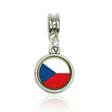 Flag of Czech Republic Euro European Italian Style Bracelet Bead Charm