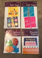 Birthday Gift Tags & Present Toppers Set