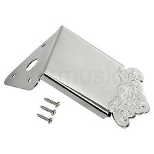 Mandolin Tailpiece for Mandolin Parts Replacement With Cover Chrome Plated