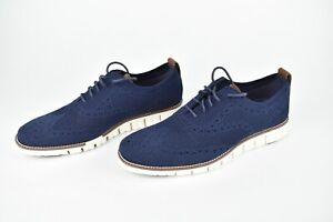 Cole Haan ZERØGRAND Stitchlite Wingtip Oxford Marine Blue C24947 Men's Size 9
