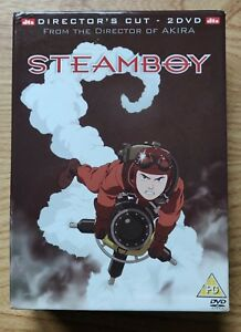 Steamboy (DVD, 2006, Director's Cut) Limited Edition includes books + art cards