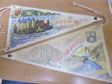TOURISME FANION DRAPEAU BORT LES ORGUES CHATEAU DE VAL CORREZE BARRAGE vintage