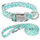 Pet Collar Leash Customized Nylon Personalized Dog Puppy ID Tag Nameplate S to L