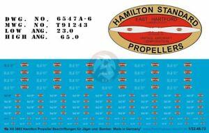 Peddinghaus 1/32 - 1/48 - 1/72 Hamilton Standard Aircraft Propeller Logos 3883