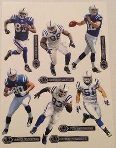 Colts FATHEAD Team Set 12 Andrew Luck, Wayne, Freeney, Fleener, Mathis, Angerer