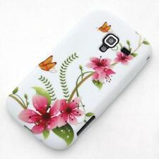 Samsung Galaxy Ace 2 i8160 custodia protettiva morbida fiore bianco case cover