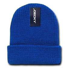 Royal Blue Watch Cap Beanie Hat Ski Military Warm Winter Cuff Knit Hats Beanies