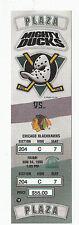 DUCKS VS BLACKHAWKS 1995 FULL TICKET STUB MINT 11/24/95 CHELIOS PROBERT GOAL