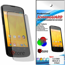 3 Film For LG Nexus 4 E960 Save Screen LCD Films Screen Protector