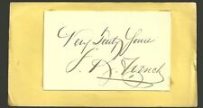 John R French cut signature Sergeant of Arms NC Rep