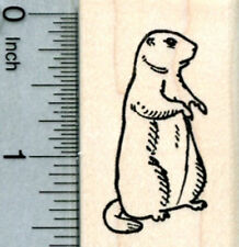 Groundhog Day Rubber Stamp, Facing Right D31614 WM