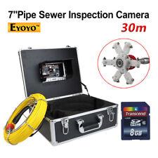 """8GB 30M/98FT 7"""" LCD SCARICO FOGNATURE ispezione fotocamera Endoscopio Video Snake"""