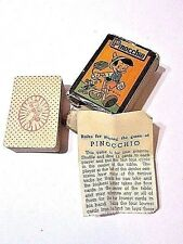 """MINIATURE PINOCCHIO PLAYING CARDS RUSSELL """"BOOK"""" DESIGN  2 1/2"""" GAME COMPLETE"""