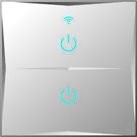 Smart Lichtschalter WLAN APP Touch Google Home A.Alexa 2 Fach Weiß HL02-11
