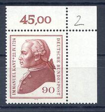 Federale mi-nr 806 angolo 2 (90) - 250.geb. Immanuel Kant - ** POSTA fresco 1974-5