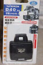 NIKON D40 DSLR CAMERA LCD HOOD AND SCREEN PROTECTOR BNIB