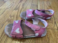Pediped 12 12.5 Pink Sandals Hearts EU 29 Girls Kids