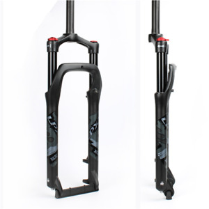 """Snow Bike Bicycle 20/26'' Front Fork Air Suspension Magnesium 4.0"""" Tire Fork"""