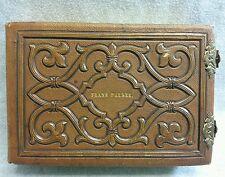 Antique CDV Tintype Leather Photo Album 24 CDVs 4 Tin Type 1860s-1880s 28 Total