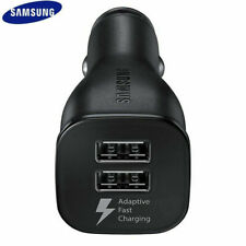 Genuine Samsung Dual Port Adaptive Fast Car Charger (EP-LN920) - Black