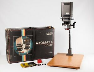 Meopta Axomat 4 35mm Condenser Enlarger + Paterson 50mm Lens - Boxed - EXC Cond.
