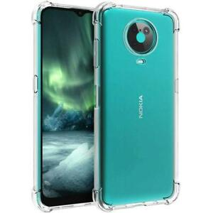 For Nokia G20 Case Slim Clear Silicone Shockproof Gel Phone Cover + Screen Guard