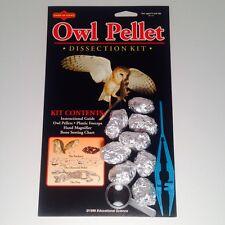 Owl Pellet Kit, 8 Pellets, Heat treated and sanitized (OP101-8)