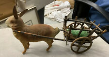 Antique German Bunny And Cart Candy Container