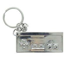 Official Nintendo NES Controller 3D Metal Chrome Keyring Keychain