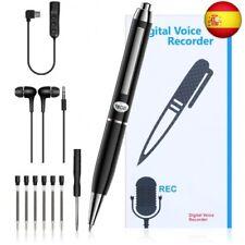 Grabadora de voz Pluma Grabadora de voz digital de 16GB con auricular y cable