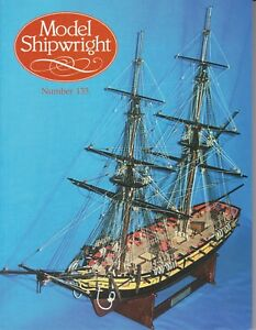 Model Shipwright No 135  (Conway 2006 1st) with Modellers Draught plan