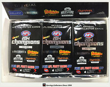 2014 Select AFL Champions Trading Cards Sealed Loose Packs Unit of 4--packs