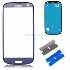 New Replacement Repair Screen Front Glass Outer lens For Samsung Galaxy S3 BLUE