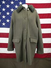 Nordstrom Winter Wool Coat Vintage Removable Lining Women's Brown Size M