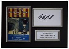 More details for alex macdonald signed autograph a4 photo rangers ecwc winners 1972 coa