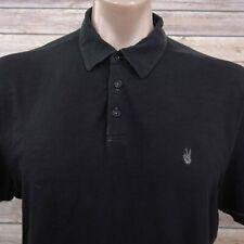 John Varvatos USA Mens Polo Shirt Size L Short Sleeve Cotton Black